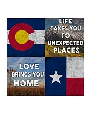 TEXAS COLORADO LOVE BRINGS YOU HOME Square Coaster thumbnail