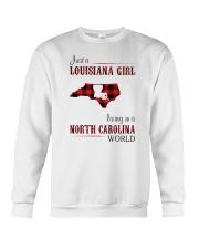 LOUISIANA GIRL LIVING IN NORTH CAROLINA WORLD Crewneck Sweatshirt thumbnail