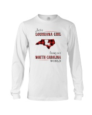 LOUISIANA GIRL LIVING IN NORTH CAROLINA WORLD Long Sleeve Tee thumbnail
