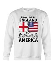 LIVE IN ENGLAND BEGAN IN AMERICA ROOT WOMEN Crewneck Sweatshirt thumbnail