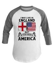 LIVE IN ENGLAND BEGAN IN AMERICA ROOT WOMEN Baseball Tee thumbnail