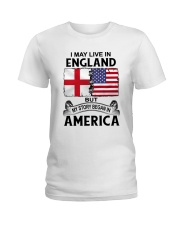 LIVE IN ENGLAND BEGAN IN AMERICA ROOT WOMEN Ladies T-Shirt thumbnail