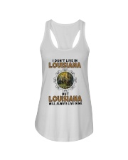 LOUISIANA WILL ALWAYS LIVE IN ME Ladies Flowy Tank thumbnail