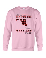 NEW YORK GIRL LIVING IN MARYLAND WORLD Crewneck Sweatshirt thumbnail