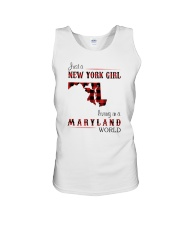NEW YORK GIRL LIVING IN MARYLAND WORLD Unisex Tank thumbnail