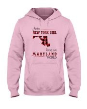 NEW YORK GIRL LIVING IN MARYLAND WORLD Hooded Sweatshirt thumbnail
