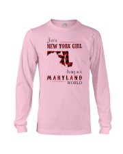 NEW YORK GIRL LIVING IN MARYLAND WORLD Long Sleeve Tee thumbnail