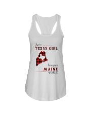 TEXAS GIRL LIVING IN MAINE WORLD Ladies Flowy Tank thumbnail