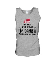 I'M NOT YELLING I'M DANISH Unisex Tank thumbnail