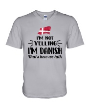 I'M NOT YELLING I'M DANISH V-Neck T-Shirt thumbnail