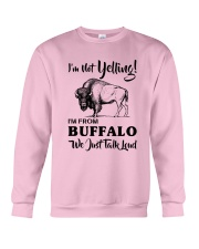 I'M NOT YELLING I'M FROM BUFFALO Crewneck Sweatshirt thumbnail
