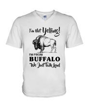 I'M NOT YELLING I'M FROM BUFFALO V-Neck T-Shirt thumbnail
