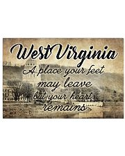 WEST VIRGINIA PLACE YOUR HEART REMAINS 24x16 Poster front