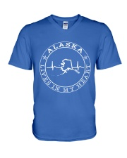 ALASKA LIVES IN MY HEART V-Neck T-Shirt thumbnail