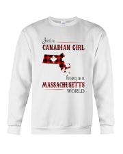 CANADIAN GIRL LIVING IN MASSACHUSETTS WORLD Crewneck Sweatshirt thumbnail