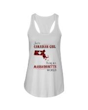 CANADIAN GIRL LIVING IN MASSACHUSETTS WORLD Ladies Flowy Tank thumbnail