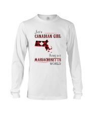CANADIAN GIRL LIVING IN MASSACHUSETTS WORLD Long Sleeve Tee thumbnail