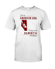 AMERICAN GIRL LIVING IN ALBERTA WORLD Classic T-Shirt front