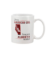 AMERICAN GIRL LIVING IN ALBERTA WORLD Mug tile