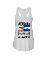 LIVE IN CALIFORNIA BEGAN IN EL SALVADOR Ladies Flowy Tank thumbnail