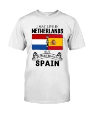 LIVE IN NETHERLANDS BEGAN IN SPAIN ROOT Classic T-Shirt tile