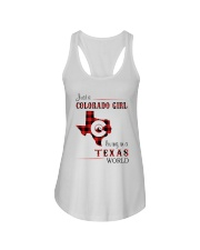 COLORADO GIRL LIVING IN TEXAS WORLD Ladies Flowy Tank thumbnail