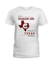 COLORADO GIRL LIVING IN TEXAS WORLD Ladies T-Shirt thumbnail