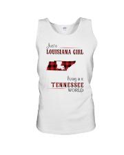 LOUISIANA GIRL LIVING IN TENNESSEE WORLD Unisex Tank thumbnail