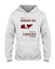 LOUISIANA GIRL LIVING IN TENNESSEE WORLD Hooded Sweatshirt thumbnail