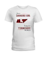 LOUISIANA GIRL LIVING IN TENNESSEE WORLD Ladies T-Shirt thumbnail