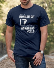 JUST A MINNESOTA GUY LIVING IN ARKANSAS WORLD Classic T-Shirt apparel-classic-tshirt-lifestyle-front-53