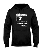 JUST A MINNESOTA GUY LIVING IN ARKANSAS WORLD Hooded Sweatshirt thumbnail