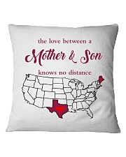 MAINE TEXAS THE LOVE BETWEEN MOTHER AND SON  Square Pillowcase thumbnail