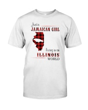JAMAICAN GIRL LIVING IN ILLINOIS WORLD Classic T-Shirt front