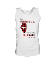 JAMAICAN GIRL LIVING IN ILLINOIS WORLD Unisex Tank thumbnail