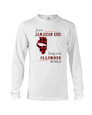 JAMAICAN GIRL LIVING IN ILLINOIS WORLD Long Sleeve Tee thumbnail