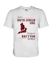 SOUTH AFRICAN GIRL LIVING IN BRITISH WORLD V-Neck T-Shirt thumbnail