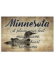 MINNESOTA A PLACE YOUR HEART REMAINS Horizontal Poster tile