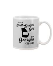JUST A SOUTH DAKOTA GIRL IN A GEORGIA WORLD Mug thumbnail