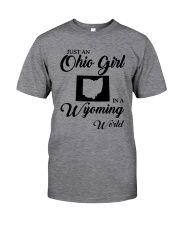 JUST AN OHIO GIRL IN A WYOMING WORLD Classic T-Shirt thumbnail
