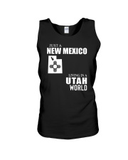 JUST A NEW MEXICO GUY LIVING IN UTAH WORLD Unisex Tank thumbnail