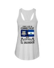 LIVE IN CONNECTICUT BEGAN IN EL SALVADOR Ladies Flowy Tank thumbnail