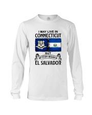 LIVE IN CONNECTICUT BEGAN IN EL SALVADOR Long Sleeve Tee thumbnail