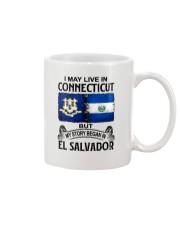LIVE IN CONNECTICUT BEGAN IN EL SALVADOR Mug thumbnail