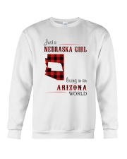 NEBRASKA GIRL LIVING IN ARIZONA WORLD Crewneck Sweatshirt thumbnail