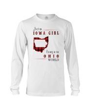 IOWA GIRL LIVING IN OHIO WORLD Long Sleeve Tee thumbnail
