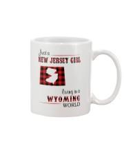 JERSEY GIRL LIVING IN WYOMING WORLD Mug thumbnail