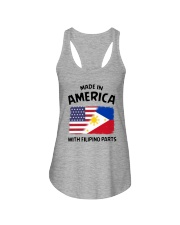 AMERICA WITH FILIPINO PARTS Ladies Flowy Tank thumbnail