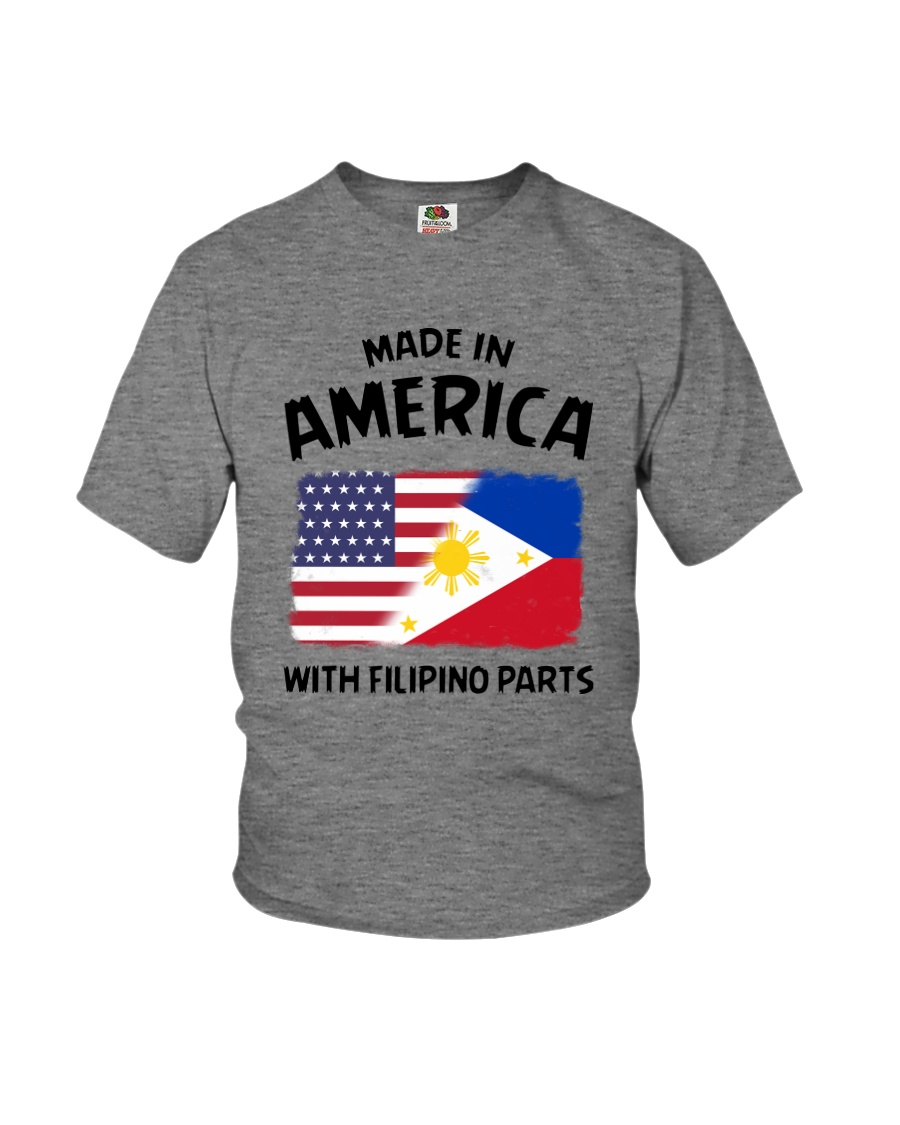AMERICA WITH FILIPINO PARTS Youth T-Shirt