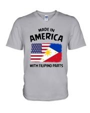 AMERICA WITH FILIPINO PARTS V-Neck T-Shirt thumbnail